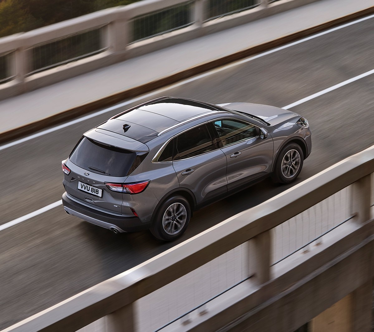 All New Ford Kuga driving over bridge