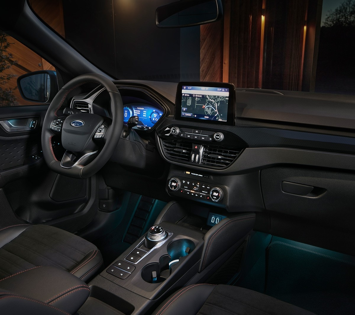 All New for Kuga interior showing dashboard