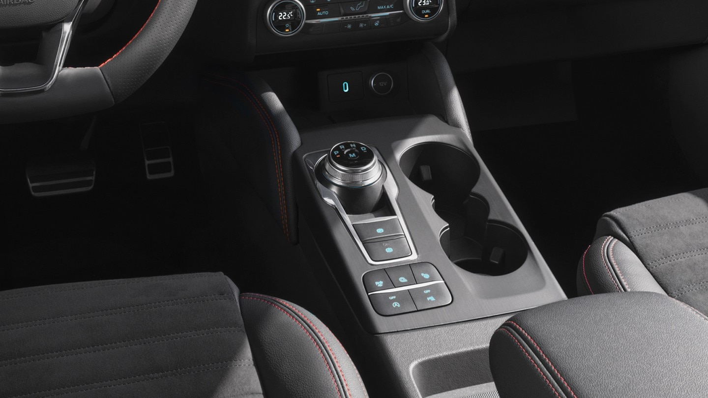 All New Ford Kuga interior with gear close up