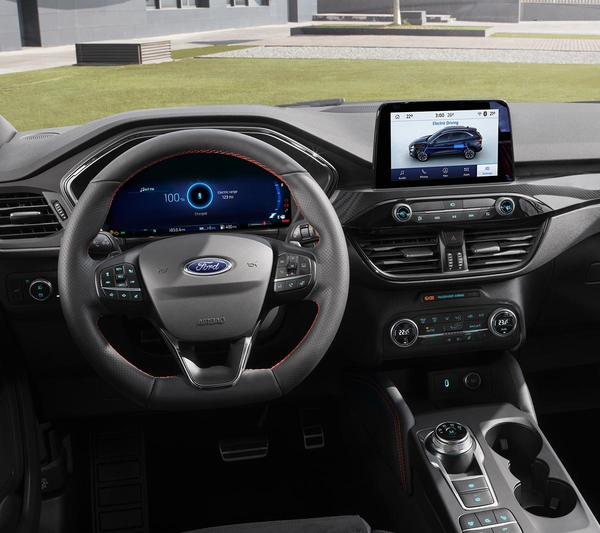 All New Ford Kuga interior with steering wheel and SYNC3