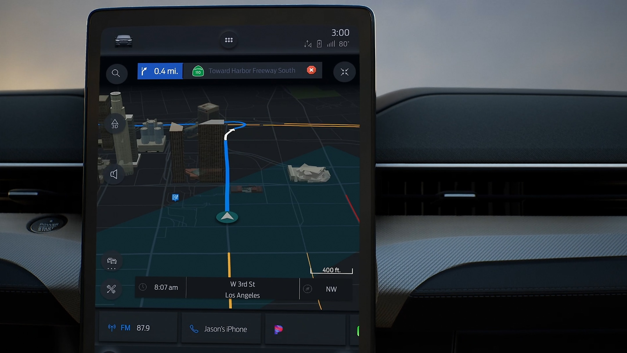 SYNC4 navigation on screen